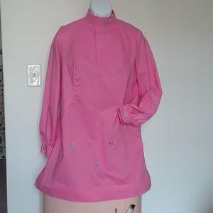 Vintage 60's Pink Mod Mini Dress Handcrafted